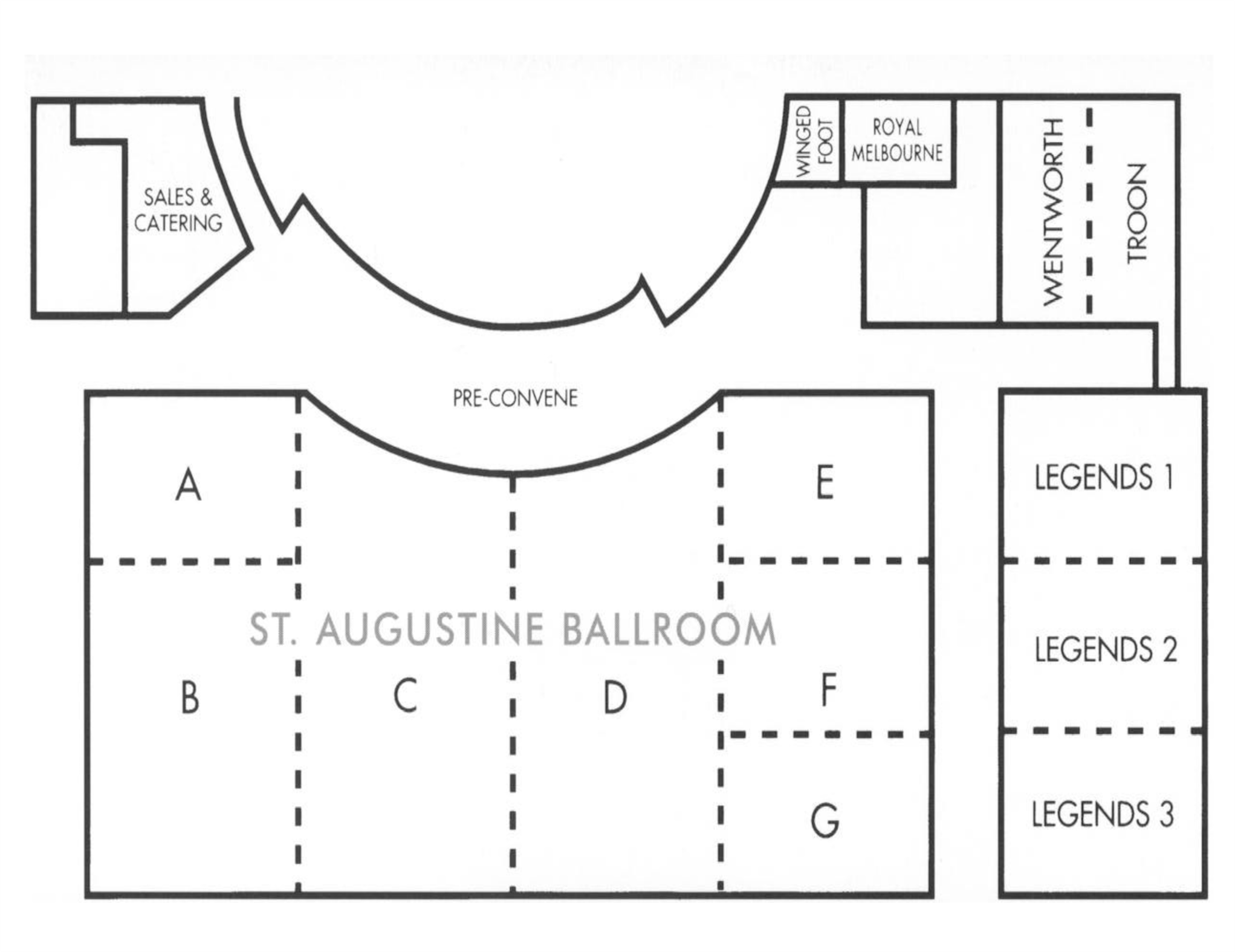 St Augustine Resort Floor Layout